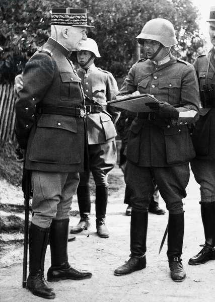 Switzerland Marshal Petain (b/w photo)