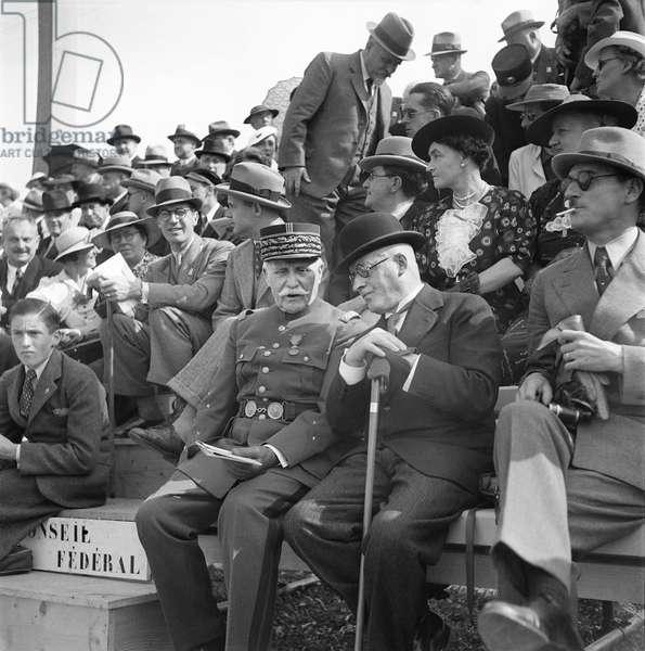 Switzerland Motta Petain, 1937 (b/w photo)