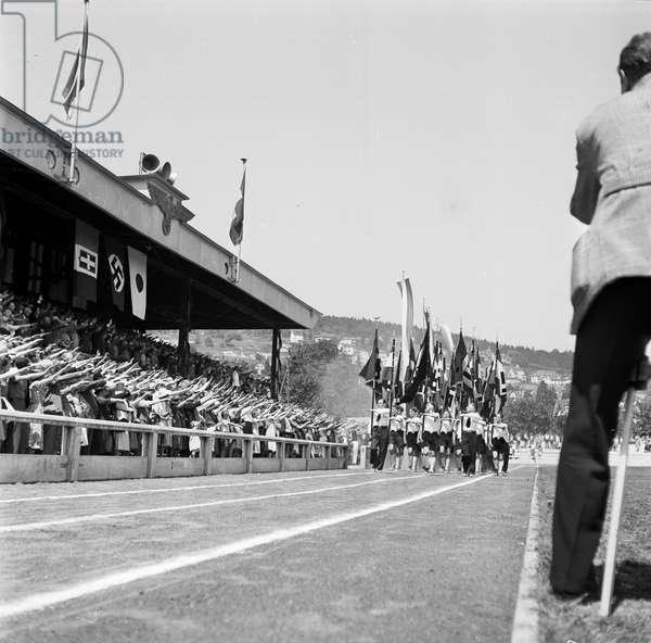 Switzerland World War Ii National Socialist Sports Festival, 1942 (b/w photo)