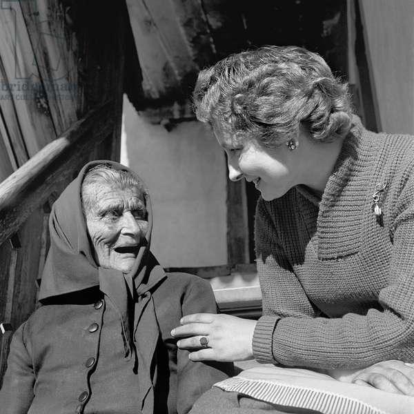 Switzerland Woman Voting Rights, 1957 (b/w photo)