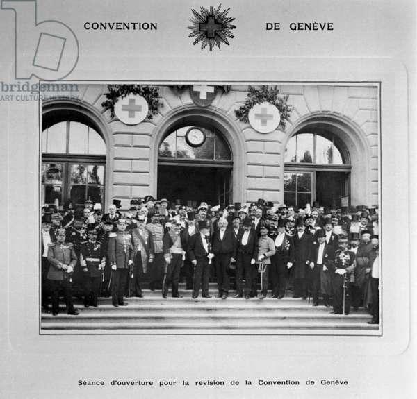 Switzerland Geneva Conventions, 1906 (b/w photo)