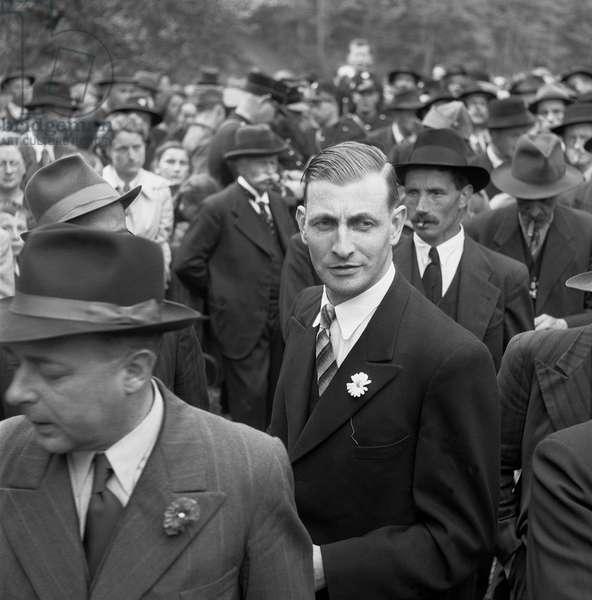 Switzerland Federal Ludwig Von Moos, 1943 (b/w photo)