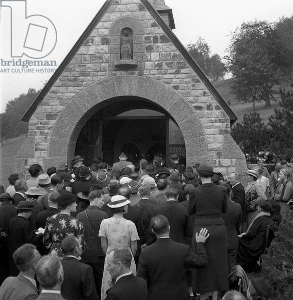 Switzerland Memorial Astrid Of Belgium, 1947 (b/w photo)