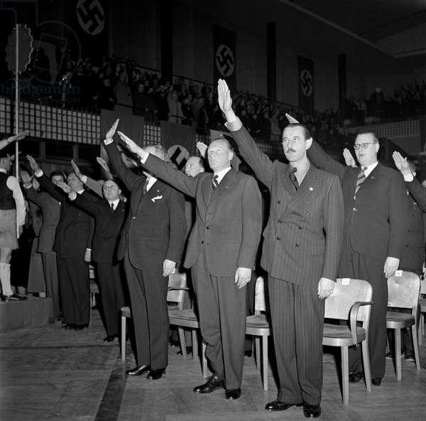 Switzerland Second World War Party Birthday Hitler, 1942 (b/w photo)