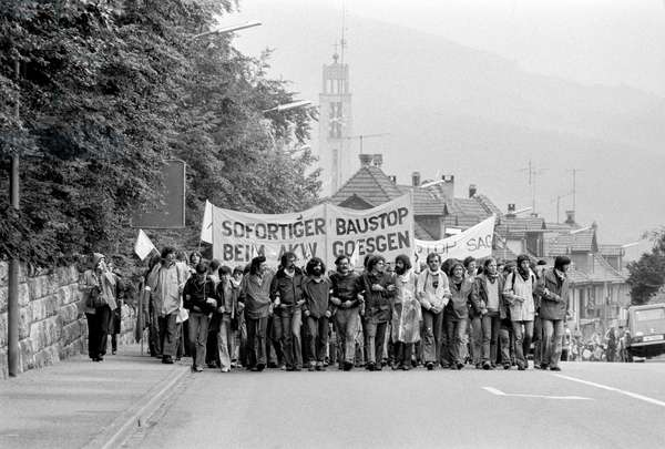 Switzerland Akw Demonstration, 1977 (b/w photo)