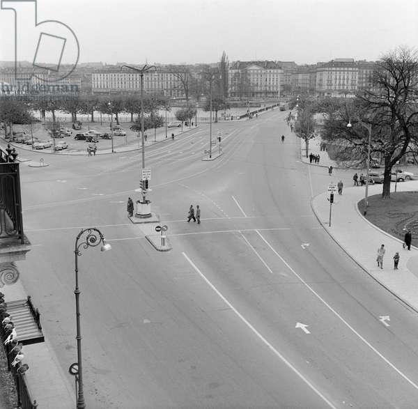 Switzerland Geneva Sunday Bans, 1956 (b/w photo)
