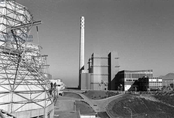 Switzerland Energy Thermal Power Station Chavalon, 1965 (b/w photo)