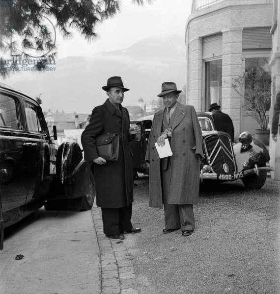 Switzerland World War Petain, 1945 (b/w photo)