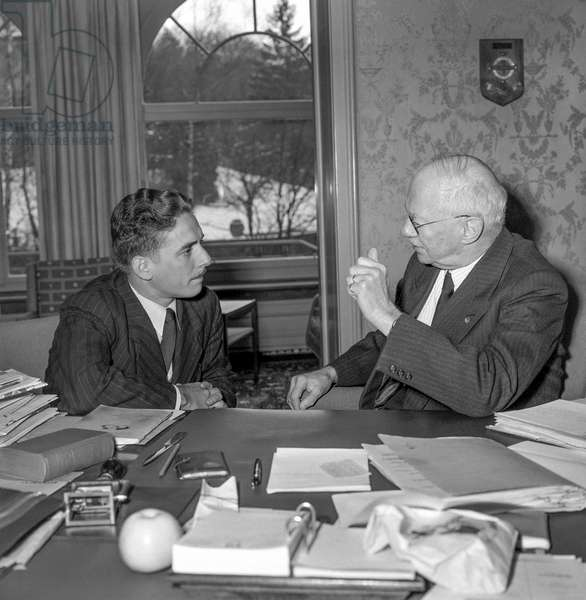 Switzerland Kurt Gassmann, 1957 (b/w photo)