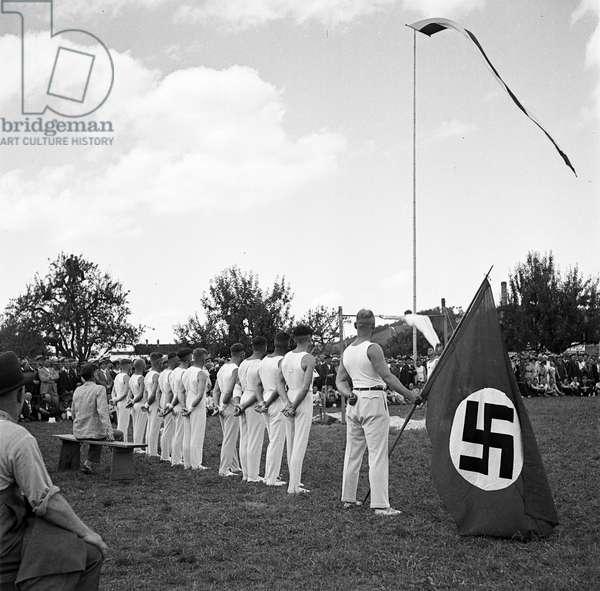 Switzerland World War Ii National Socialist Sports Festival, 1936 (b/w photo)