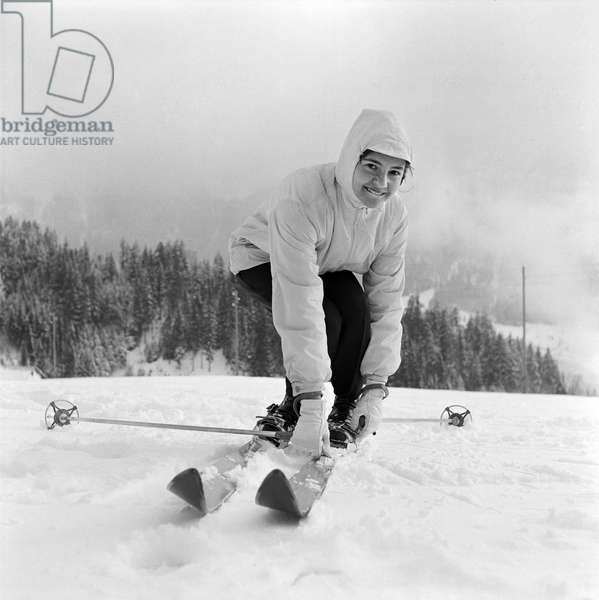 Switzerland Agustina Castro, 1958 (b/w photo)