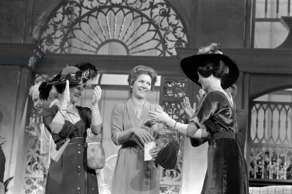 Switzerland Theater Christiane Hoerbiger, 1971 (b/w photo)