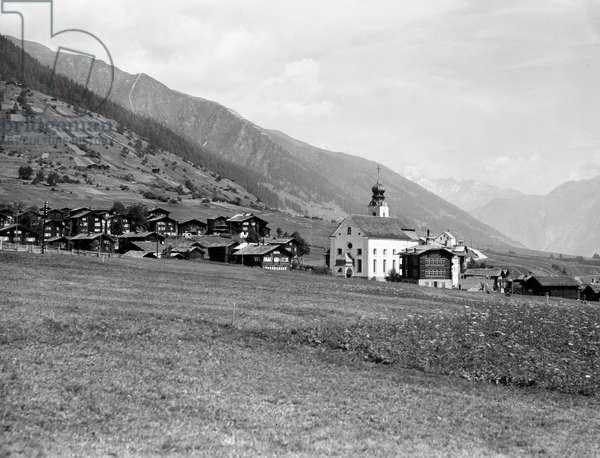 Switzerland Valais Reckingen, 1937 (b/w photo)