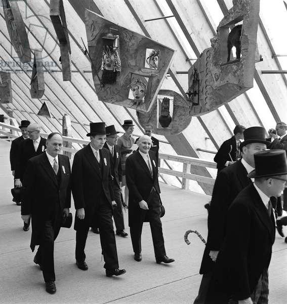 Switzerland Expo64 Opening (b/w photo)