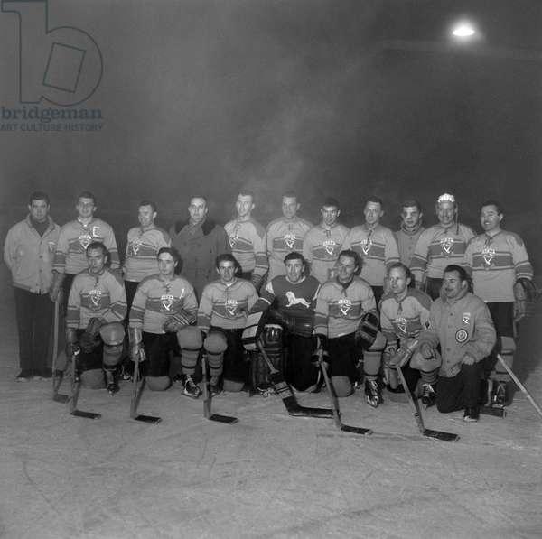 Spengler Cup, 1959 Acbb Boulogne-Billancourt (b/w photo)