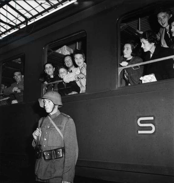 Switzerland Second World War Refugees Jews, 1942 (b/w photo)