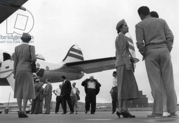 Switzerland Airport Kloten, 1950 (b/w photo)