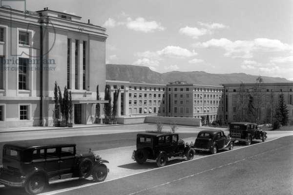 Switzerland Association Of Nations (b/w photo)