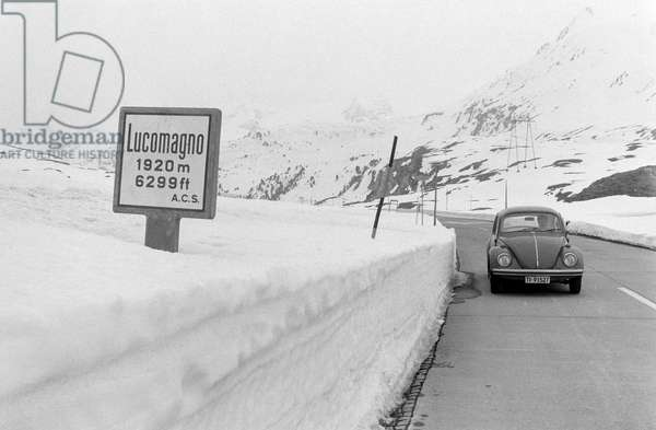 Switzerland Lukmanier, 1972 (b/w photo)