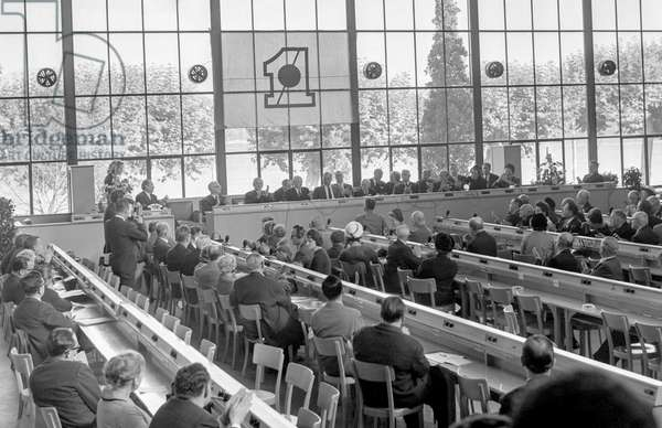 Switzerland World Parliament, 1963 (b/w photo)