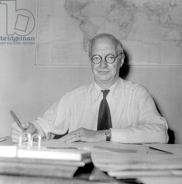 Switzerland Kurt Gassmann, 1951 (b/w photo)