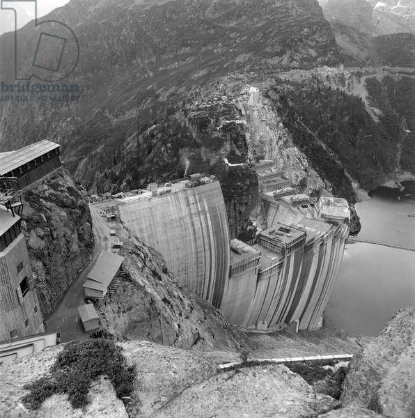 Switzerland Energy Emosson, 1969 (b/w photo)