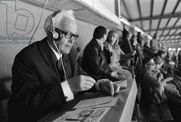 Switzerland Sutter Sports Reporter, 1977 (b/w photo)