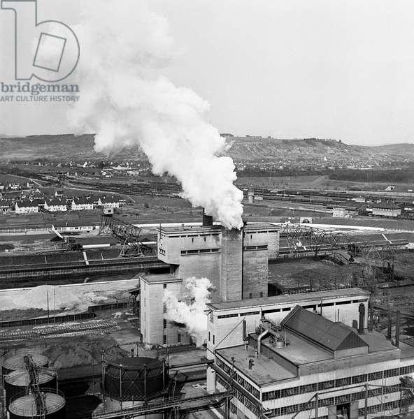 Switzerland Basel Gasworks, 1942 (b/w photo)