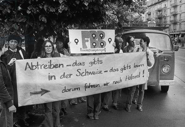 Switzerland Abortion (b/w photo)