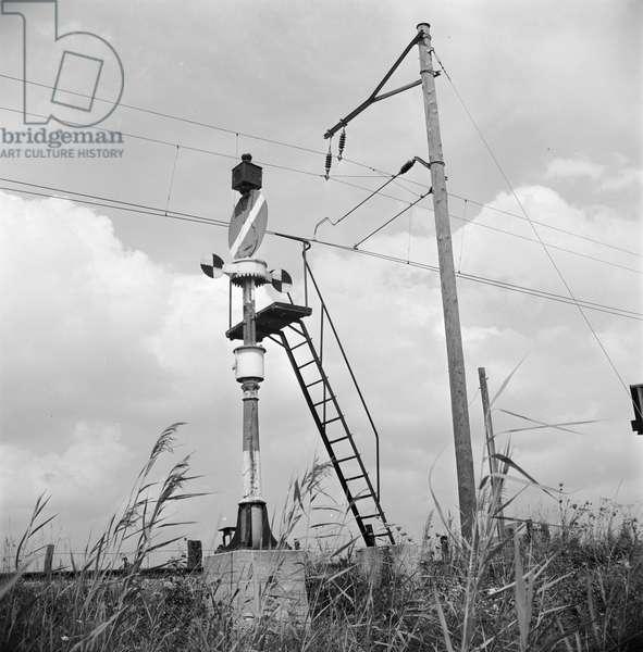 Switzerland Railway Bls, 1960 (b/w photo)