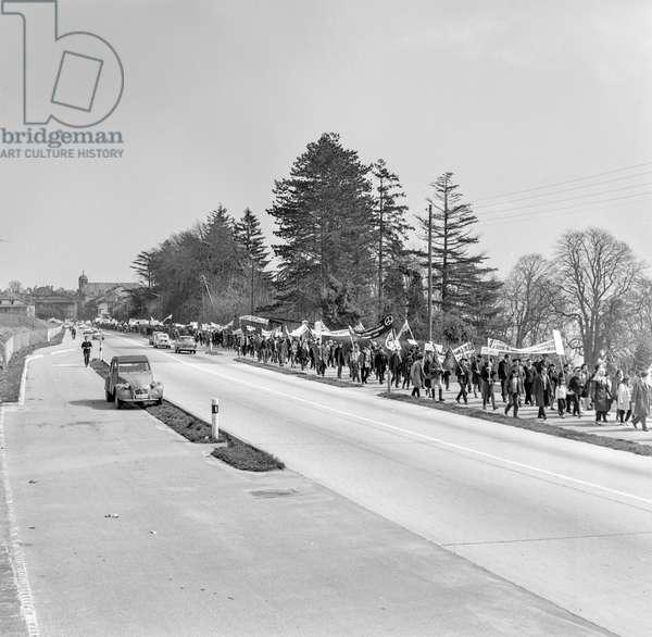 Switzerland Nuclear Demonstration, 1964 (b/w photo)