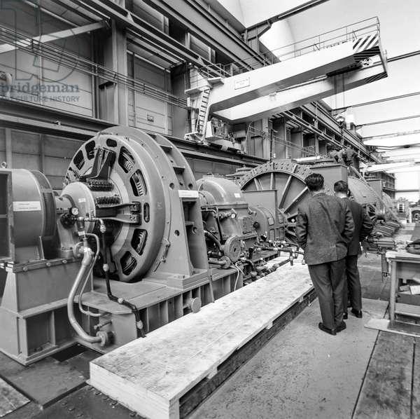 Switzerland Mechanical Engineering Bbc, 1965 (b/w photo)