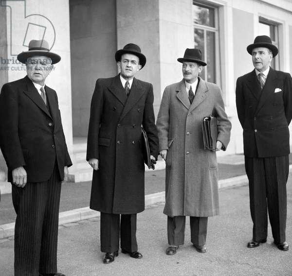 Switzerland League of Nations Federal Max Petitpierre, 1946 (b/w photo)