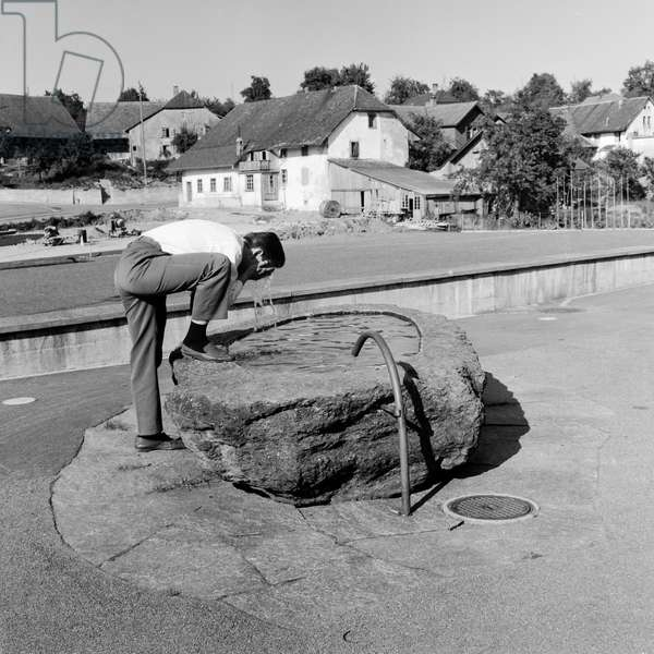 Switzerland Aargau Dürrenäsch, 1967 (b/w photo)