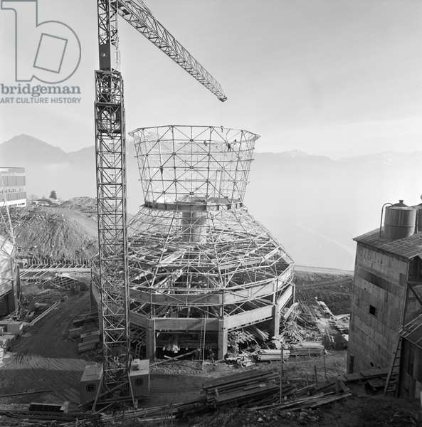 Switzerland Energy Thermal Power Station Chavalon, 1964 (b/w photo)