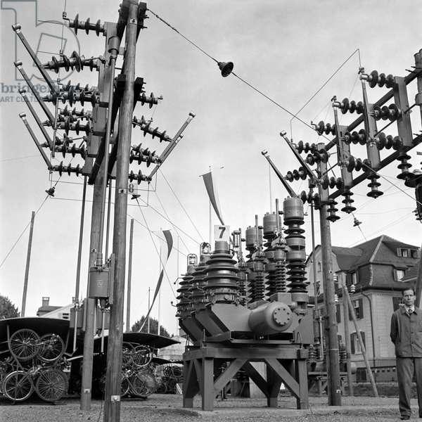Switzerland Mechanical Engineering Bbc, 1941 (b/w photo)