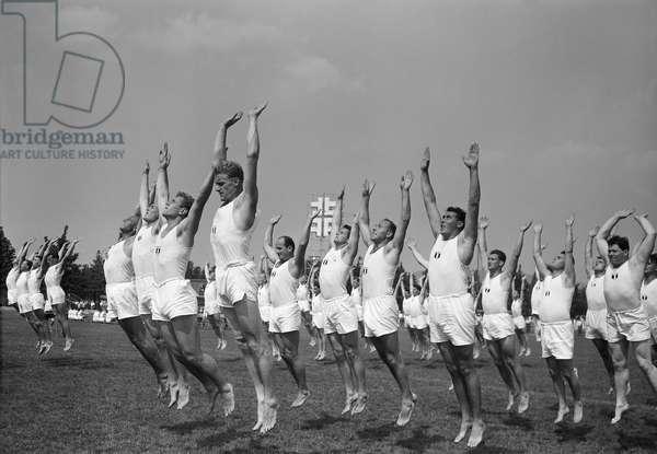Switzerland Eidg. Gymnastics Festival, 1959 (b/w photo)