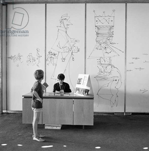 Switzerland Lausanne Expo 64, 1964 (b/w photo)