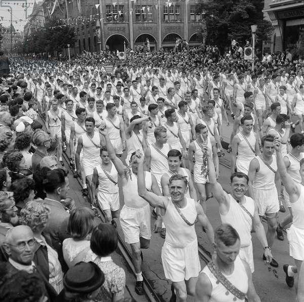 Switzerland Eidg. Gymnastics Festival, 1955 (b/w photo)