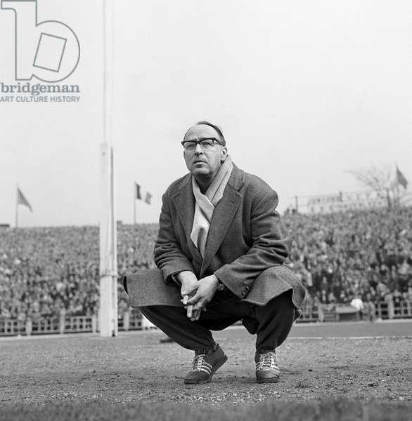 Football Karl Rappan (b/w photo)