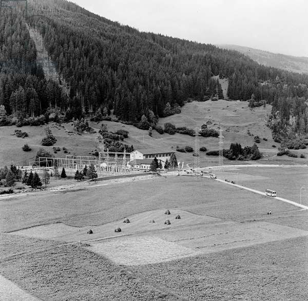 Switzerland Reservoir Marmorera, 1955 (b/w photo)