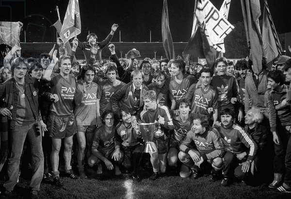 Switzerland Basel Champion, 1980 (b/w photo)