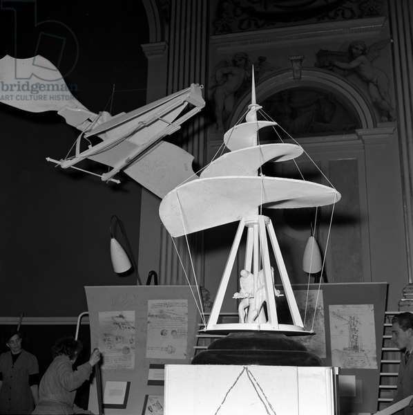 Switzerland Eth Zurich Leonardo Da Vinci, 1954 (b/w photo)