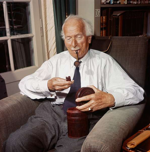 Switzerland Psychology C. G. Jung, 1960 (b/w photo)
