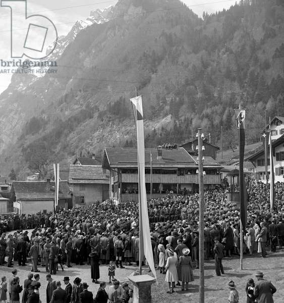 Switzerland Näfelser Ride, 1944 (b/w photo)