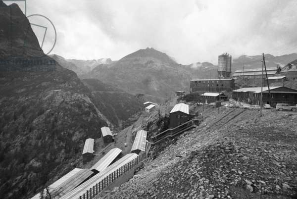 Switzerland Water Power Emosson, 1969 (b/w photo)