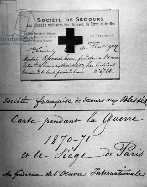 Switzerland Red Cross 1870 (b/w photo)