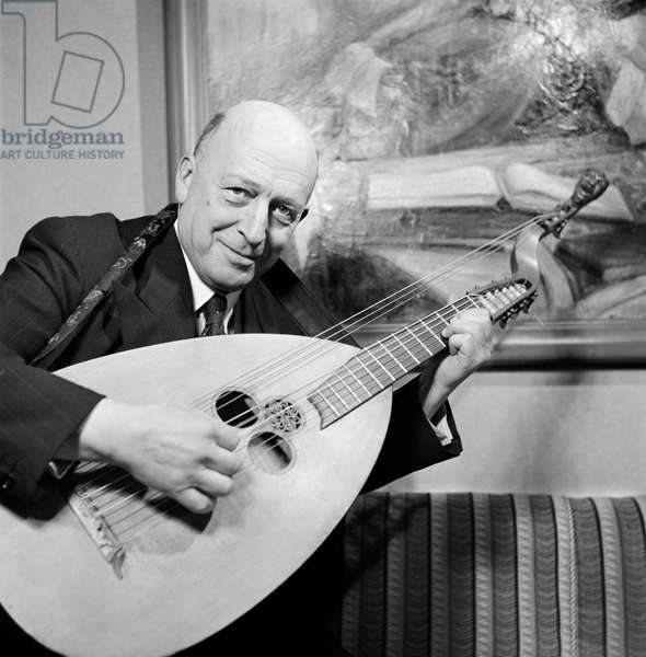 Switzerland Music Hanns Indergand, 1942 (b/w photo)