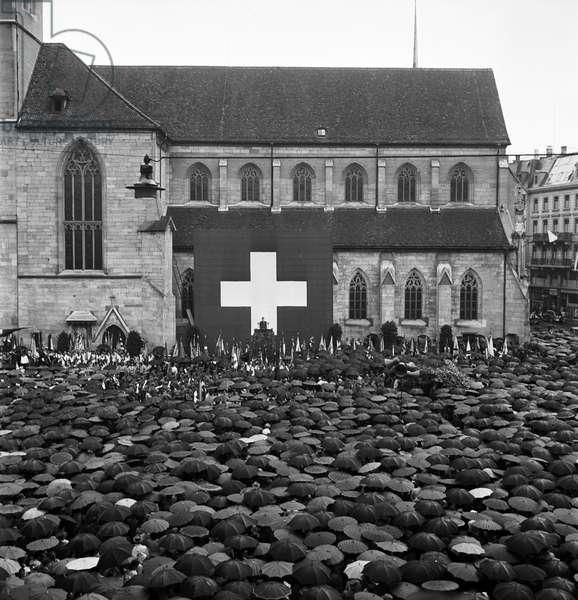 Switzerland Federal Party 1945, 1945 (b/w photo)