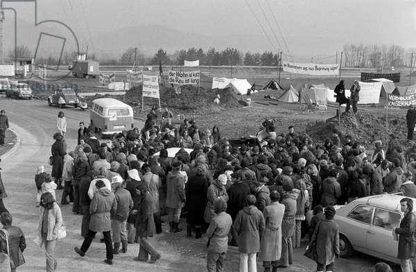 Switzerland Akw Demonstration, 1975 (b/w photo)